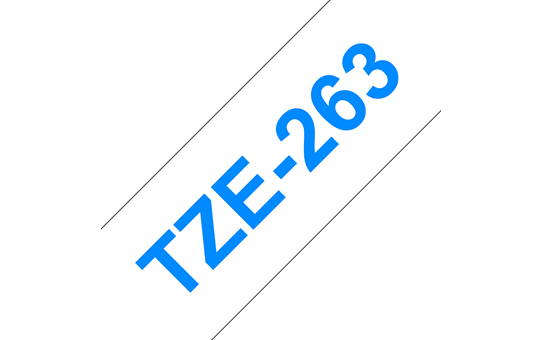 Brother TZE-263 bel/moder 36mm, trak za PT